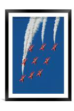 The Red Arrows RIAT 2015 12, Framed Mounted Print