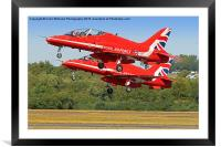 The Red Arrows RIAT 2015 17, Framed Mounted Print