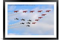 Battle of Britain Flypast Duxford, Framed Mounted Print