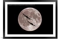 The Two Lancasters - Bombers Moon, Framed Mounted Print