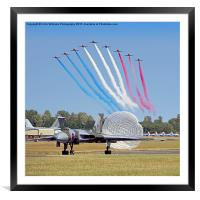The Red Arrows Salute The Vulcan, Framed Mounted Print