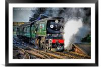 West Country Class Wadebridge Waiting to Depart, Framed Mounted Print