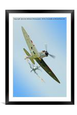 The Guy Martin Spitfire Tailchase Duxford, Framed Mounted Print