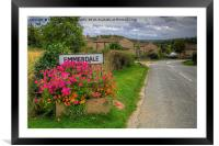 Welcome to Emmerdale, Framed Mounted Print