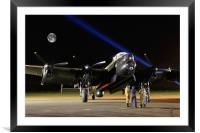 Just Jane A Bombers Moon, Framed Mounted Print