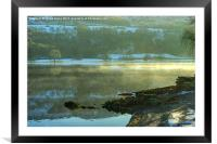 A Cold Day On Coniston, Framed Mounted Print