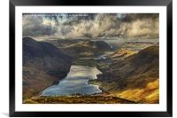 The View From Fleetwith Pike, Framed Mounted Print