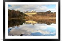 Blea Tarn and The Langdale Pikes, Framed Mounted Print
