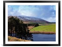 The side of Pendle Hill, Framed Mounted Print