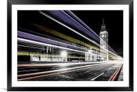Big Ben and Parliament, Framed Mounted Print
