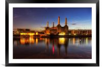 Battersea Twilight, Framed Mounted Print