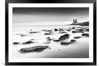 Reculver - long exposure., Framed Mounted Print