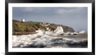 Folkestone and Storm Imogen , Framed Mounted Print