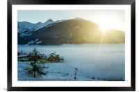 Town above the clouds, Framed Mounted Print