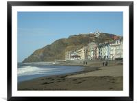 Sea front, Framed Mounted Print