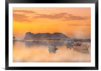 Golden Sunrise, Framed Mounted Print