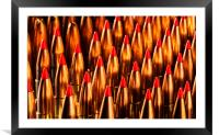 Abstract Pattern of Standing Bullets, Framed Mounted Print