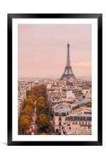 Autumnal Paris and the Eiffel Tower., Framed Mounted Print