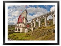 LAXEY WHEEL (Isle of Man), Framed Mounted Print