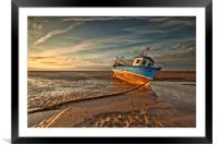 MEOLS BEACH (Grounded), Framed Mounted Print