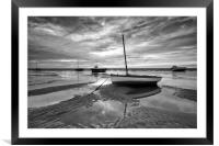 BOATS ON THE ESTUARY ( PT2), Framed Mounted Print
