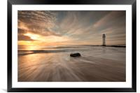 SEA MIMICS THE SKY, Framed Mounted Print