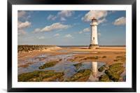 SUNNY PERCH ROCK, Framed Mounted Print