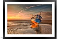 MORNING HAZE ( Small fishing boat ), Framed Mounted Print