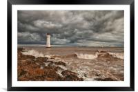 LIGHTHOUSE!!!! ( Perch Rock Before The Storm ), Framed Mounted Print