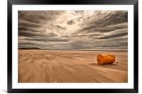 """DRIFTING SAND"", Framed Mounted Print"