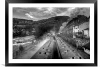 """Llangollen Steam"", Framed Mounted Print"