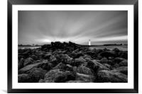 """""""Rays of Light (Perch Rock Lighthouse), Framed Mounted Print"""