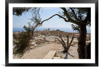 The ruins of Kourion, Framed Mounted Print