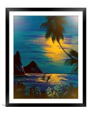 A Little bit of Paradise  , Framed Mounted Print