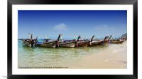 Boats in Thailand, Framed Mounted Print