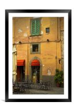 Caffe Ristoro Piccadilly, Framed Mounted Print