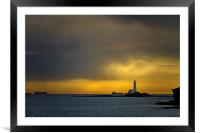 Early morning at St Marys, Framed Mounted Print