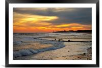 Golden Sunday, Framed Mounted Print