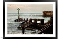 Seaton Sluice Harbour Mouth, Framed Mounted Print
