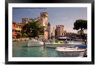 Sirmione Scaliger Castle, Framed Mounted Print