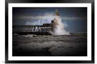 Winter storm with artistic filter, Framed Mounted Print