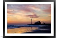 Dawn silhouettes, Framed Mounted Print