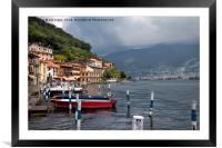 Italian Lakeside Village, Framed Mounted Print