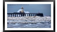 Stormy weather at the river mouth, Framed Mounted Print