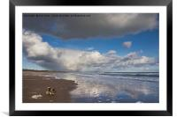 Reflections on Druridge Bay, Framed Mounted Print