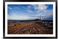Another daybreak at St Mary's Island, Framed Mounted Print
