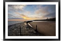 Early morning at Cullercoats Bay , Framed Mounted Print