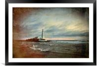 Artistic St Mary's Island and Lighthouse, Framed Mounted Print