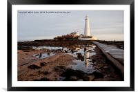 St Mary's Island reflections, Framed Mounted Print
