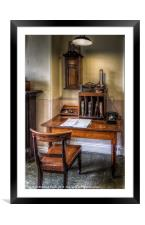 Victorian Office, Framed Mounted Print